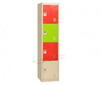 Locker-4TL  4 Compartment Metal Cabinet Locker