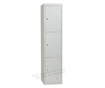 Locker-3T 3 Tier Steel Storage Locker Cabinet