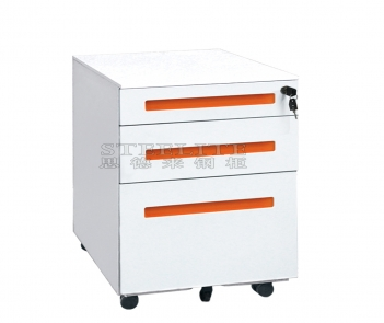 steel 3 drawer mobile storage filing cabinet