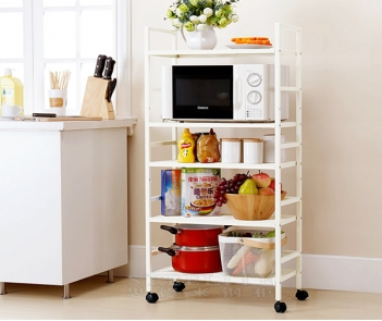 HY-1L5 5 tier steel shelf with wheels
