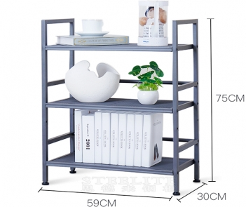 HY-1L3 3 layer mobile shelf with drawer
