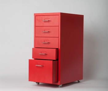 OKD-5 Red Cold Rolled Steel Chest of Drawers