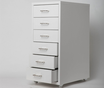 Multi rolling storage vertical data strip cabinet with drawers