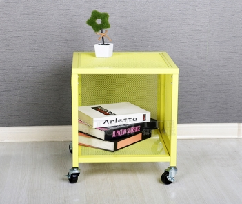 LK-M02 Mesh design mobile nightstand with storage