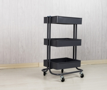 MT-3T Rolling 3-Tier Storage Organizer Standing Shelf Cart Trolley