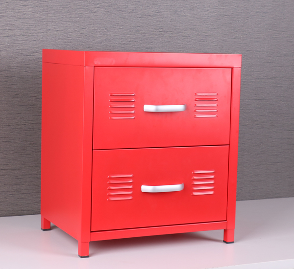 2 Drawers Cabinet Metal Night Stand