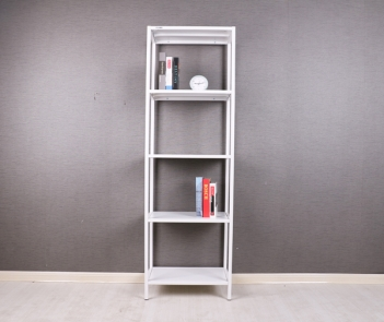 TF-H3 White 5 layers wall metal book rack display shelf