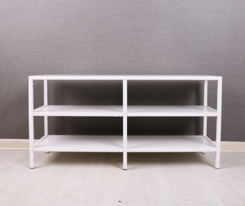 TF-H2 White 3 Tiers Metal TV Stand