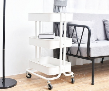 TF-M3 Four wheels 3 tier rolling cart