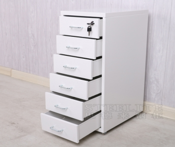 OKD-6 Home Office Storage 6 Drawer Cabinet With Locker