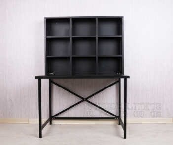 ZL-DS metal table with bookshelf