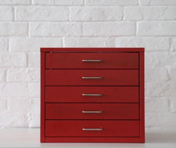 5 Drawer Small Storage Cabinet On Table Top