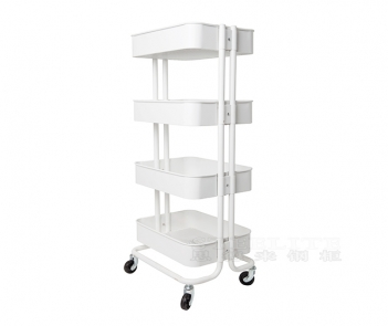 TF-M4 4 Tiers Metal Storage Trolley with wheels