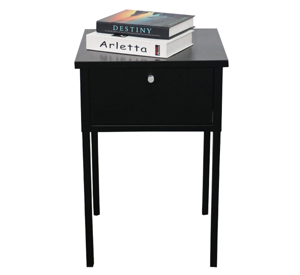 Bedside nightstand with drawer