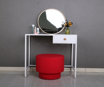 TF-H1 white metal legs dresser table desk