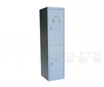 Locker-2T 2 doors steel metal storage locker cabient
