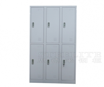 Locker-6TW metal steel locker 6 doors storage cabinet