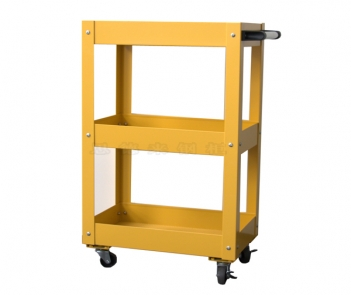 Steel metal trolley with wheels