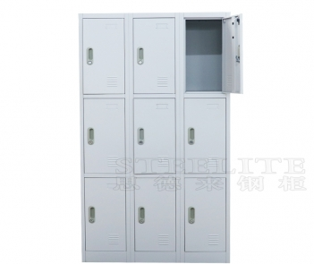 Locker-9TW steel office furniture 9 doors metal locker