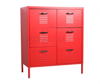 MF-6D red 6 drawer bedroom storage cabinet