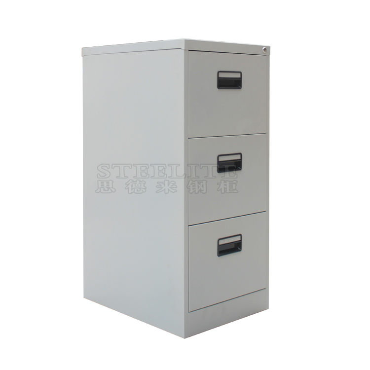 3 drawers storage metal file cabinet