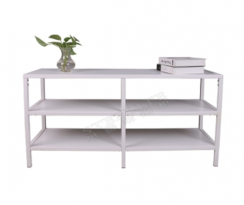 TF-H2 3 Tiers Metal TV Stand White