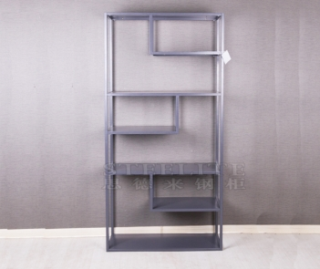 SH-ZX01 gray metal display shelf cube bookshelf bookcase