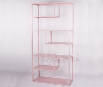 SH-ZX01 pink metal display shelf cube bookshelf bookcase