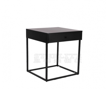 ST-01 metal bedside table with a drawer
