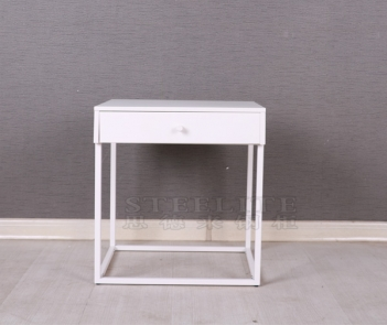 ST-01 metal bedroom furniture white bed side table