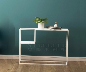 SZ-03 hallway corner living room sofa side table long metal console table