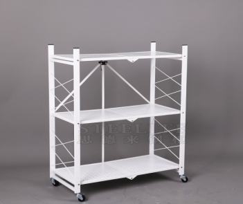 FS-3TK folding metal shelf home use foldable storage shelf rack