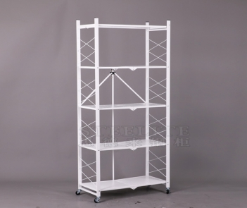 FS-5TK 5 layers folding storage heavy duty metal rack shelves for home kitchen