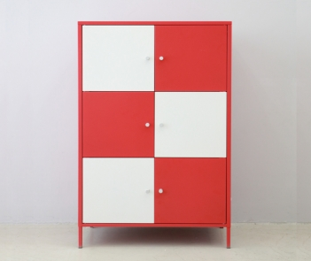 LKP90 red and white storage cabinet sideboard